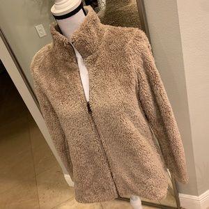 SONOMA Beige Teddy Full-Zip Jacket S